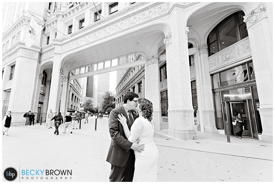Wrigley Building Elopement Emily Tim 9 24 15 187 Elope To